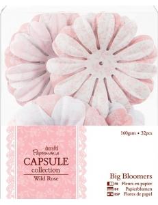 Набор декоративных цветов для скрапбукинга, коллекция Wild Rose, 32 шт, Docrafts