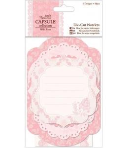 Набор высечек для скрапбукинга Кружевные рамки и карточки, коллекция Wild Rose, 18 штук, Papermania