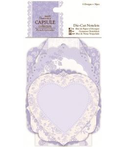 Набор высечек для скрапбукинга Кружевные рамки и карточки, French Lavender, 18 штук, Papermania