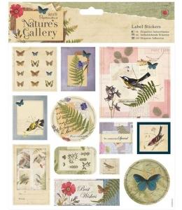 Наклейки для скрапбукинга Nature's Gallery, 12 шт, Papermania