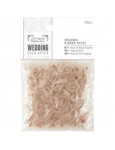 Набор золотых розочек из органзы Wedding 100 шт., DoCrafts