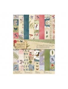 Набор бумаги и высечек для скрапбукига, коллекция Nature's Gallery, А4, 48 листов, Papermania