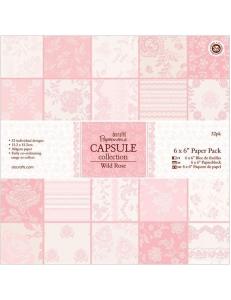 Набор бумаги для скрапбукинга, коллекция Wild Rose, розовый, 15,2х15,2 см, Papermania