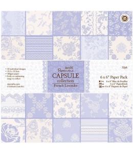 Набор бумаги для скрапбукинга, коллекция French Lavender, лавандовый, 15,2х15,2 см, Papermania