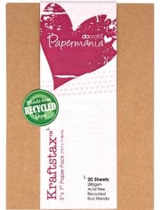 "Набор бумаги для скрапбукинга ""Крафт"", 12,7х17,8 см, 20 листов, Papermania"
