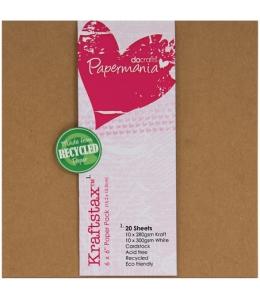 """Набор бумаги для скрапбукинга """"Крафт"""", белая и крафтбумага, 15,2х15,2 см, Papermania"""