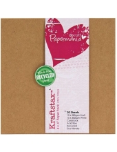 Набор бумаги для скрапбукинга Kraftstax, 10,2х10,2 см, Papermania