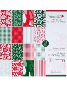 Набор бумаги для скрапбукинга Cranberry and apple, 30,5х30,5 см, 32 листа, DoCrafts