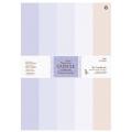 Набор бумаги для скрапбукинга French Lavender, 5 цветов, 50 шт., формат А4, Papermania