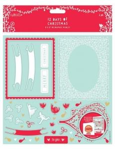 """Набор высечек для скрапбукинга """"12 Дней Рождества"""", 20х20 см, 2 листа, Papermania"""