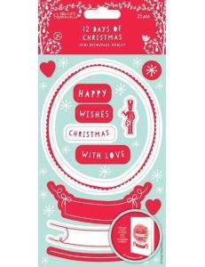 """Набор высечек для скрапбукинга """"12 Дней Рождества"""", 10х20 см, 2 листа, Papermania"""