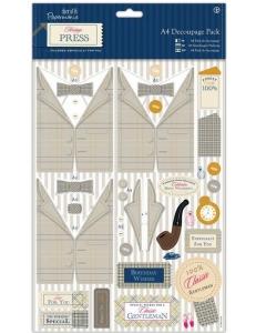 """Набор для изготовления объемной открытки """"Сельский джентльмен"""" Heritage Press, 21х29,7 см, Papermania"""