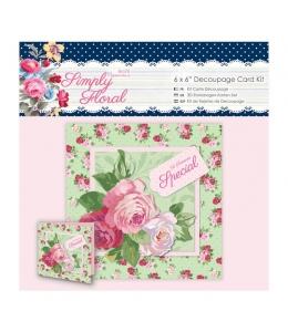 Набор для изготовления открытки Особенному человеку, коллекция Simply Floral, 16х16 см, Papermania