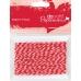 Шнур декоративный витой красно-белый,10 м, DoCrafts