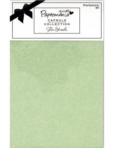 Набор бумаги с микроблестками Chelsea Green, 3 цвета, зеленый, 14х22 см, 8 шт, Papermania