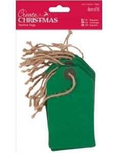 Набор бирок Create Christmas, цвет зеленый, 63х113 мм, 20шт., DoCrafts