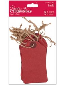Набор бирок Create Christmas, цвет красный, 63х113 мм, 20шт., DoCrafts