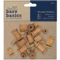 Декоративные деревянные катушки Bare Basics, 3 размера 22 шт., DoCrafts