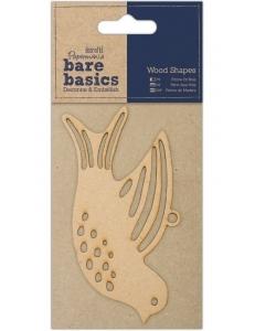 Плоская фигурка Голубь, 7х13 см, МДФ, коллекция Bare Basics, Papermania