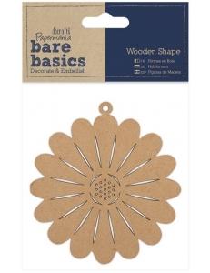 Плоская фигурка Цветок, 9 см, МДФ, коллекция Bare Basics, Papermania
