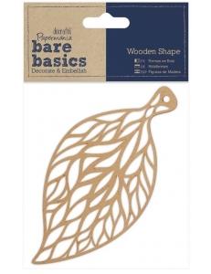 Плоская фигурка Листочек, 7х14 см, МДФ, коллекция Bare Basics, Papermania
