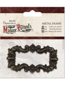 Декоративная металлическая рамка, цвет старая бронза, Madame Payraud, 4,5х8 см