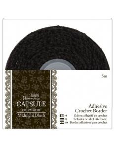 Тесьма кружевная клеевая, коллекция Midnight Blush, 3,6 см, 2м, DoCrafts