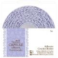 Тесьма кружевная клеевая, коллекция French Lavender, 15мм, 5 м, DoCrafts