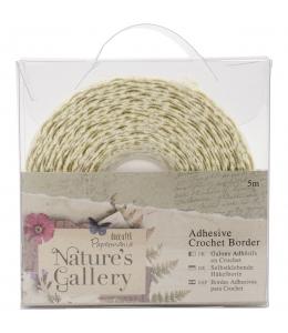 Тесьма кружевная самоклеющаяся декоративная Nature's Gallery 5 м, DoCrafts