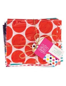 Набор ткани для скрапбукинга Spots & Stripes Brights, 5 штук по 460 х 560 мм,  DoCrafts