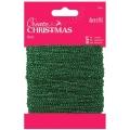 Шнур декоративный зеленый с люрексом Create Christmas, 20 м, DoCrafts