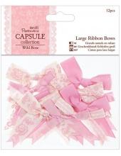Набор бантиков для скрапбукинга, коллекция Wild Rose, 20 шт, Papermania
