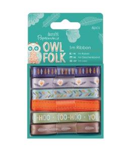 Набор ленточек Owl Folk, 12 штук, DoCrafts