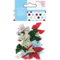 Набор бантиков Spots & Stripes Festive, новогодняя коллекция, 20 штук, DoCrafts