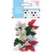 Набор бантиков Spots Stripes Festive, новогодняя коллекция, 20 штук, DoCrafts