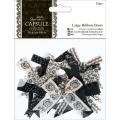 Набор бантиков для скрапбукинга, коллекция Midnight Blush, 12 шт, Papermania