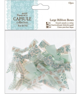 Набор бантиков для скрапбукинга, коллекция Eau De Nil, 12 шт, Papermania