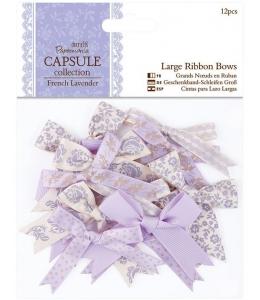 Набор бантиков для скрапбукинга, коллекция French Lavender, 12 шт, Papermania