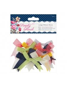Набор бантов для скрапбукинга Simply Floral, 5,5 см, 12 шт, Papermania