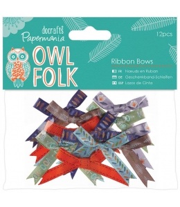 Набор бантиков Owl Folk, 12 штук, DoCrafts