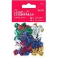 """Набор бантиков """"Блеск Рождества"""", коллекция Create Christmas, 20 штук, DoCrafts"""