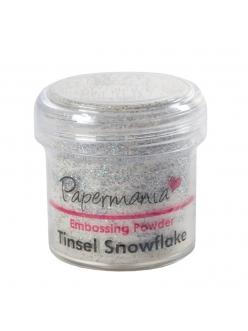 Пудра для эмбоссинга, цвет снежные блестки Papermania Великобритания