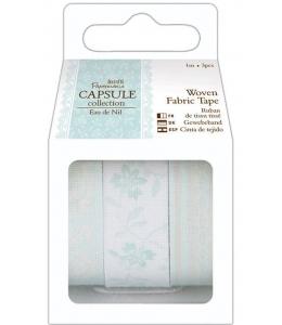 Набор тканевых клеевых лент, коллекция Eau De Nil, 3 шт. по 1 м, Papermania
