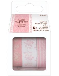 Набор тканевых клеевых лент, коллекция Wild Rose, 3шт. по 1 м, DoCrafts