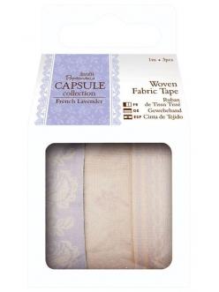 Ленты тканевые самоклеящиеся French Lavender, 3 шт. по 1 м, Papermania