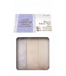 Набор тканевых клеевых лент, коллекция French Lavender, 3 шт. по 1 м, Papermania