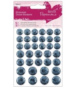 """Декоративные клеевые украшения """"Мерцающие круги голубые"""", 36 шт, Papermania"""