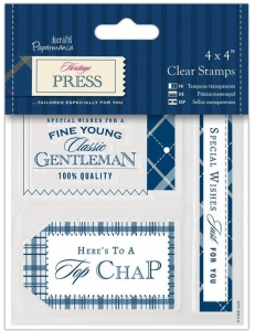 """Набор силиконовых штампов """"Славный парень"""" Heritage Press, Papermania"""