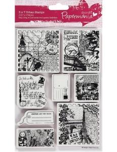"""Набор резиновых штампов """"Кругосветное путешествие"""", 12,7х17,8 см, пластиковая основа, Docrafts"""