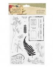 Набор силиконовых штампов Листья Nature's Gallery, 14 штук